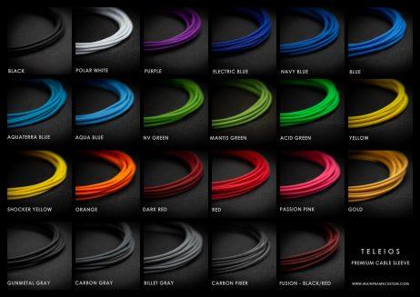Teleios premium cable sleeving