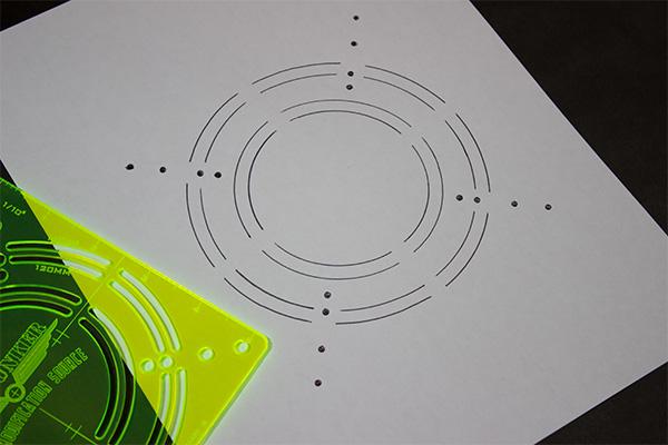 Radar Fan Mounting Hole Template |