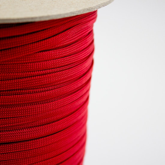Imperial Red Coreless Paracord