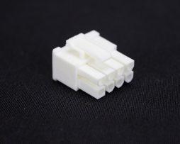 White 6+2pin PCI-E Female Connector