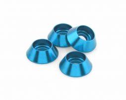 M3 Cone Washers – Aqua Blue 4 pcs