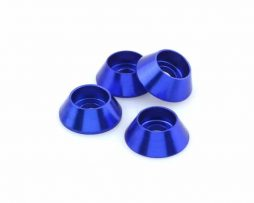 M3 Cone Washers – Dark Blue 4 pcs