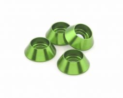 M3 Cone Washers – Green 4 pcs