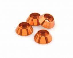 M3 Cone Washers – Orange 4 pcs