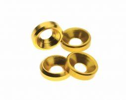 M3 Countersunk Washers – Gold 4 Pcs