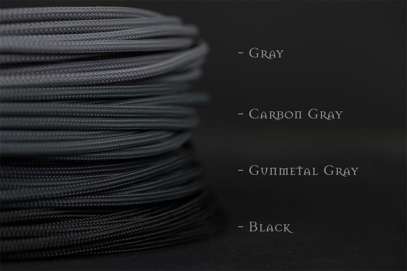 GREY 4mm PVC Sleeving