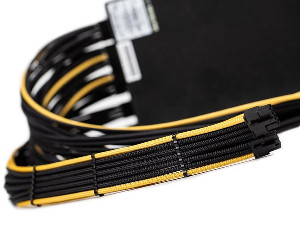 EVGA 1200P2 Custom Sleeved Power Supply Cables