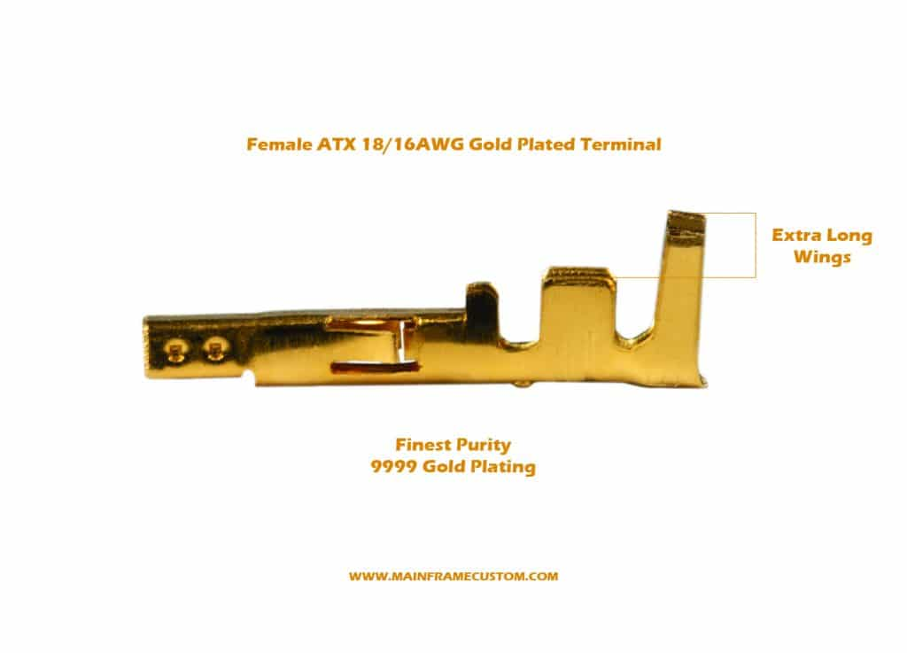 Gold Plated Female ATX Terminal