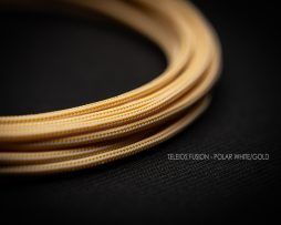 White and Gold cable sleeving